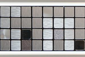 全屋吊頂丨巴洛克系列 300X300鋁扣板 型號【馬賽克銀】