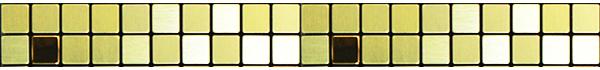 全屋吊頂丨巴洛克系列 300X300鋁扣板 型號【細馬賽克 金】