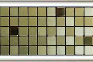 全屋吊頂丨巴洛克系列 300X300鋁扣板 型號【馬賽克金】