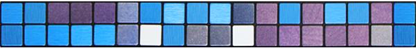 全屋吊頂丨巴洛克系列 300X300鋁扣板 型號【細馬賽克 藍】